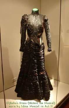 Elphaba's Wicked Witch costume that Idina Menzel wore in the original broadway production of Wicked