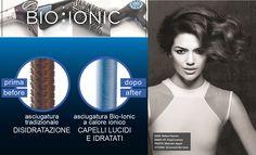 """Da che mondo e mondo, asciugare i capelli significa seccarli e perdere parte della loro idratazione. DIMENTICHIAMOCI DEL PASSATO: con i phon Bio Ionic """"asciugatura"""" fa rima con """"idratazione"""" grazie alla miscela di 32 minerali, per capelli luminosi e una piega che dura fino a 2 giorni in più!"""