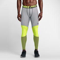 2b5ecd33e0 lowest price Nike Men's Tights Nike Pro Hyperwarm Lines Compression Volt/ Black - Canada for sale