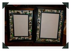 Picture frames made from beads and seashells from md vacation