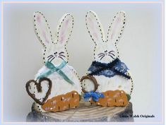 The Best Free Crafts Articles: My Linda's How-Do-I Series? How To Make Our Delightful Fancy Bunnies Woodcraft Decoration Free E-Book by Linda Walsh of Linda Walsh Originals