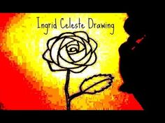How to Draw a Rose - Easy For Beginners - Ingrid Celeste Drawing