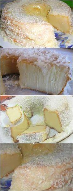 NÃO DEIXE DE FAZER ESSE BOLO PARA SEU MARIDÃO…BOLO SEGURA MARIDO!! VEJA AQUI>>>Bata todos os ingredientes no liquidificador. Coloque em uma fôrma untada e enfarinhada. #receita#bolo#torta#doce#sobremesa#aniversario#pudim#mousse#pave#Cheesecake#chocolate#confeitaria Baking Recipes, Cake Recipes, Dessert Recipes, Desserts, Brazillian Food, Second Breakfast, Coco, Sweet Recipes, Sweet Treats