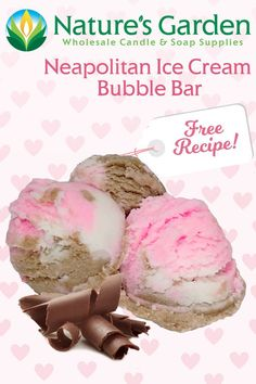 Free Neapolitan Ice Cream Bubble Bar Recipe by Natures Garden