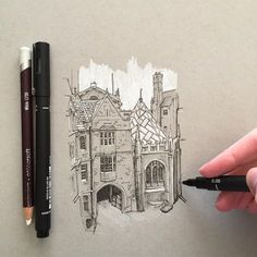 """2,180 Likes, 24 Comments - Phoebe Atkey (@phoebeatkey) on Instagram: """"A quick little sketch #art #drawing #pen #sketch #illustration #linedrawing #architecture #building…"""""""