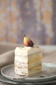 Honey Lemon Poppy Seed Cake