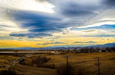 Front Range Sunset  Color Landscape by EagleEyeOriginals on Etsy, $30.00