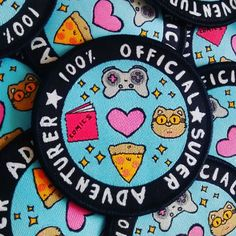 Let everybody know that you're the real deal, 100% official super adventurer!! Patches are 70mm (palm sized!) with an iron on backing. Orders f...