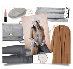 """simple everyday look"" by sandralalala ❤ liked on Polyvore featuring Gucci, Paige Denim, Olivia Burton, FOSSIL, GUESS and MAC Cosmetics"