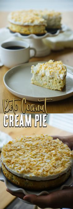 Our Low Carb Cream Pie is completely nut free and the perfect dessert for all the coconut lovers out there!