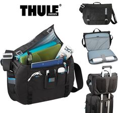 "New TSA Friendly Thule Crossover 15"" Laptop / MacBook Pro Messenger Bag -TCMB115 #Thule"