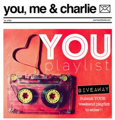 We want to hear what's on your playlist!  Check out our new YOU Playlist Giveaway, and enter to win a gift and handwritten note from Dianna: http://eepurl.com/qQ8qT