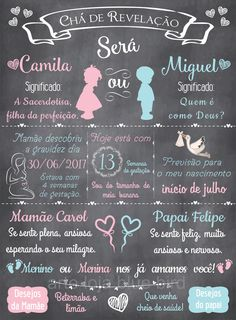 Image result for chalkboard gravidez revelacao Simple Gender Reveal, Baby Gender Reveal Party, Baby Gender Announcements, Idee Baby Shower, Baby Tea, Baby Coming, Baby Shark, Reveal Parties, Baby Party