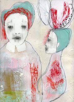 Original Painting Mixed Media Collage Drawing by ChristinaRomeo