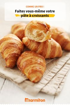 Pastry for croissants Bread And Pastries, French Pastries, Crossant Recipes, French Dishes, Food Photo, Baking Recipes, Bakery, Food And Drink, Yummy Food