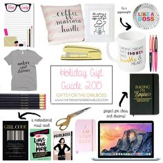 It's time for my absolute favorite gift guide.the one for the duh! Like so many of you, I love everything girly, motivational,. Boss Lady, Girl Boss, Gifts For Boss, Holiday Gift Guide, Little Gifts, Girly, Creative, Women's, Girly Girl