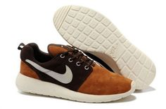 Nike Roshe Run Homme Brown Blanc
