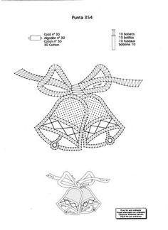 navidad - mdstfrnndz - Álbumes web de Picasa Bobbin Lace Patterns, Weaving Patterns, Filet Crochet, Diy Crochet, Fabric Stiffener, Bobbin Lacemaking, Lace Heart, Point Lace, Paper Embroidery