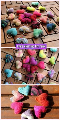 Knit Heart Softies Free Knitting Pattern - Knit hearts to be my Valentine Free Knitting Pattern