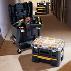 DeWalt TSTAK™ Deep Box with Removable Tool Tray #dewalt #tstak #storage