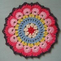 Crochet Mandala Wheel made by  Jihane, France for yarndale.co.uk