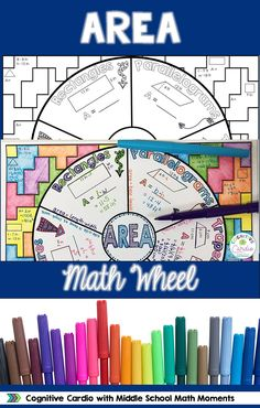 Try this graphic organizer to help your students learn or review area concepts. They can color the background and add to their interactive notebooks! #math #area