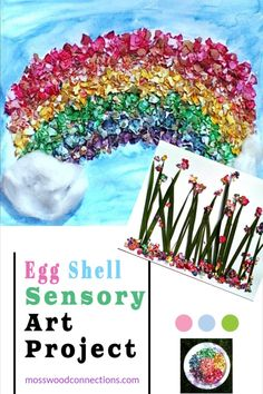 Egg-Shell-Sensory-Art-Project 1 Easter Crafts, Crafts For Kids, Arts And Crafts, Projects For Kids, Art Projects, Sensory Art, Painting Activities, Egg Shell, Easter Activities