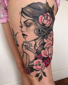 Resultado de imagen para neo traditional tattoo