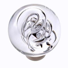 A crisp door knob in hand-blown translucent glass; a real stunner