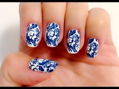 How to transfer freehand designs on to nails (Making your own nail stickers) - Natalie's Creations - YouTube