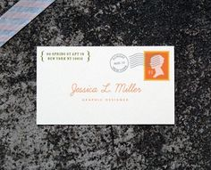"""Secret Letter"" Business card from the Butter - brilliant!"
