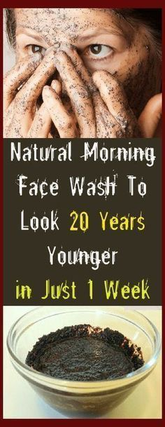 Natural morning face wash to look 20 years younger in just 1 week