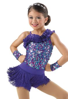 Tap - Modesty Modifications needed... Weissman™ | One Shoulder Sequin Leotard