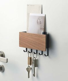 Another great find on #zulily! Brown Magnetic Key & Mail Holder #zulilyfinds