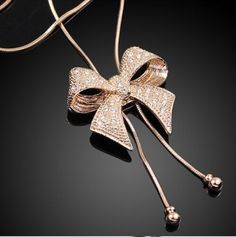 Women Girl Lady Fashion Hot-Selling Sweater Chain Romantic Bowknot Gold Necklace. http://www.ebay.co.uk/itm/Women-Girl-Lady-Fashion-Hot-Selling-Sweater-Chain-Romantic-Bowknot-Gold-Neckless-/221528156539?pt=UK_JewelleryWatches_WomensJewellery_Rings_SR&hash=item33941b697b