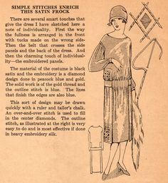 The Midvale Cottage Post: Home Sewing Tips from the 1920s - Trimming a Satin Frock