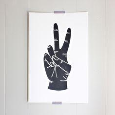Peace Large Silk-Screened Print
