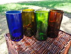 Recycled Wine Bottle & Liquor Bottle Glasses by ConversationGlass, $32.00