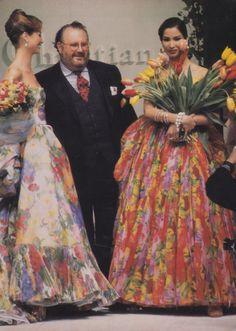 Christy Turlington w/ Gianfranco Ferre & Gurmit Kaur for Dior (1992)