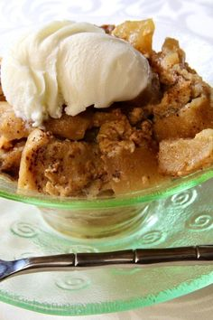 "Slow Cooker Apple Cinnamon Bread Pudding | ""Bread pudding meets apple pie for a delicious, healthy, and hassle-free dessert. Great option for the leftover bread from last nights meal."" #dessertrecipes #dessertideas #sweettreats Apple Cinnamon Bread, Cinnamon Apples, Apple Pie, Slow Cooker Apples, Dessert Recipes, Desserts, Allrecipes, Sweet Treats, Pudding"