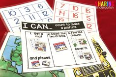 Back to School Math Activities~ Self Checking Math Puzzles