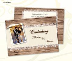 Hochzeitseinladung, Einladung zur Hochzeit von MTS-Design auf DaWanda.com
