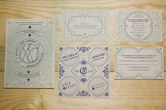 Beautiful art deco invitations / Design Benjamin Della Rosa / #wedinvites