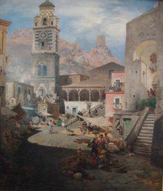 oswald achenbach Amalfi il Duomo