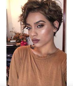 Pretty wavy pixie @mua_myesha - Black Hair Information Community More