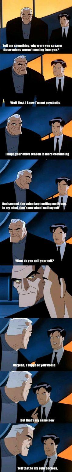 Because he's BATMAN!
