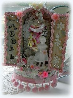 """""""You are a Doll"""" altered matchbox"""