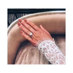 Now that you've gotten your engagement ring selfie out the way, you have another very serious decision to make: WTF you're going to do with your nails for your Halo Diamond Engagement Ring, Engagement Rings, Wedding Nails Design, Nail Design, Oval Diamond, Conflict Free Diamonds, Natural Diamonds, Anniversary Gifts, Wedding Rings