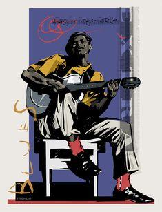 Martin French — Blues Extra Jazz Art, Jazz Music, Music Artwork, Blues Music, African American Art, Art Graphique, Blue Art, Graphic, Illustrators