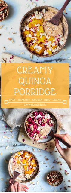 CREAMY QUINOA PORRIDGE | Healthy, Gluten-free, Vegan, Easy Breakfast Recipe | TWO SPOONS